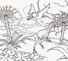 Real Jurassic Park Dinosaur Images Coloring Sheet