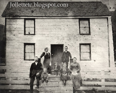 Burton Lewis and Family about 1900 https://jollettetc.blogspot.com