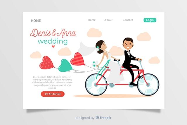 5 Desain Undangan Pernikahan Format Vector Free