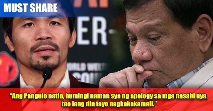 LOOK: Manny Pacquaio Defends Duterte's Critics VS Obama