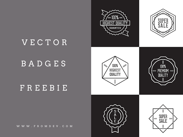 12 Awesome Vector Badges Free Download : Freebie