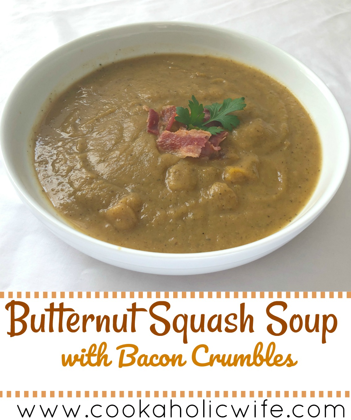 Improv Cooking Challenge: Butternut Squash Soup with Bacon Crumbles