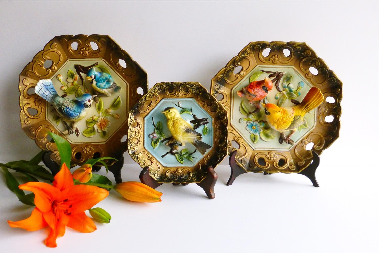 Napcoware, vintage Napcoware, Napcoware bird plaques, collecting Napcoware, Napcoware collector
