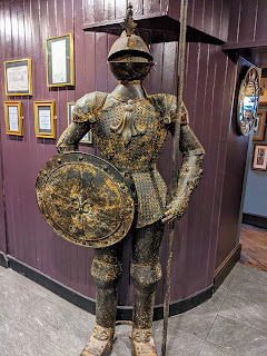 Things to see in Dungarvan: Suit of armour at Merry's Gastro Pub