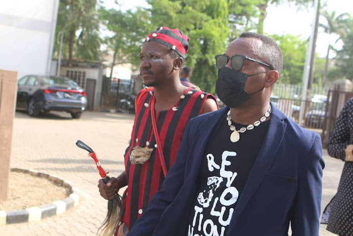 Sowore Storms Court With Witch Doctor Ahead Of Trial (Pictures)