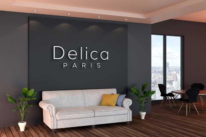 Black Office Wall Meeting Room Logo Mockup