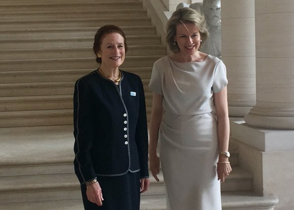Queen Mathilde of Belgium met with Henrietta Fore, the Executive Director of UNICEF