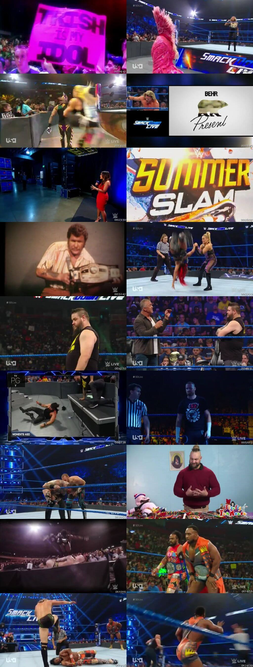 Screen Shot Of WWE SmackDown Live 6th August 2019 HDTV 480P 300MB