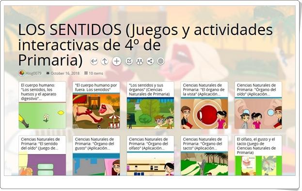 """""""10 Juegos y actividades interactivas para el estudio de LOS SENTIDOS en 4º de Primaria"""""""