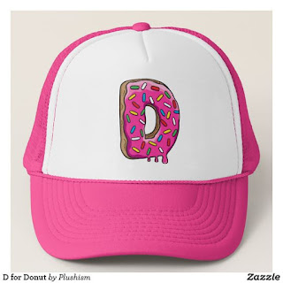 https://www.zazzle.com/d_for_donut_trucker_hat-148090420511087280