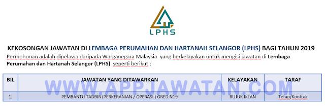 Lembaga Perumahan dan Hartanah Selangor (LPHS).