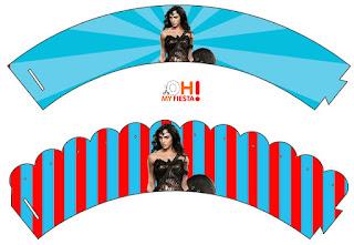 Película de la Mujer Maravilla: Wrappers y Toppers para Cupcakes para Imprimir Gratis.