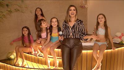 Mônica com as crianças no spa - Divulgação/SBT