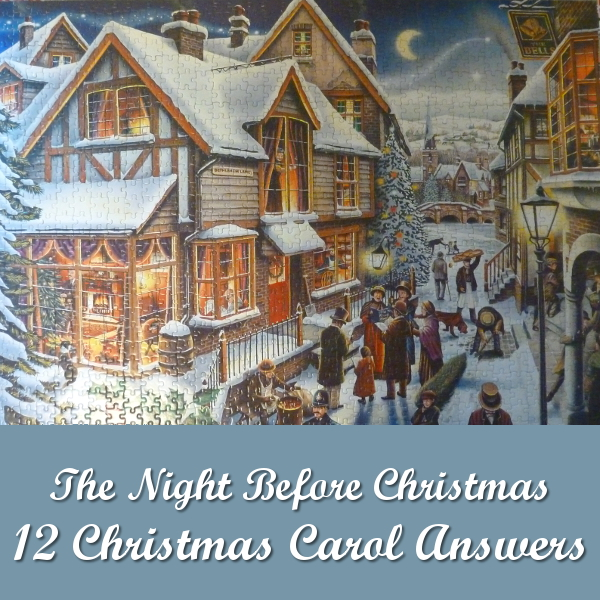 Search and Find 12 Christmas Carol Answers for The Night Before Christmas 1997 Jigsaw Puzzle Waddingtons Limited Edition Victorian Festive