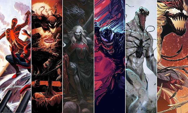 Todos los simbiontes de Marvel: Carnage, Venom, Knull, Scream...