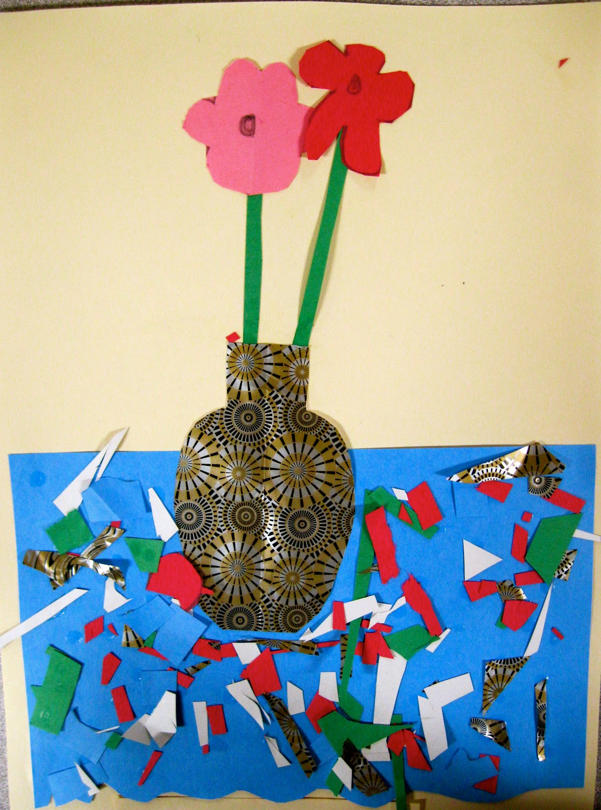 Table Of 4 Angie Villa Art & Education: Still Life Collage- 4th Grade
