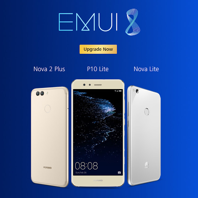 Latest EMUI 8.0 Update for HUAWEI Nova Lite, Nova 2 Plus and P10 Lite Users by Power-packed