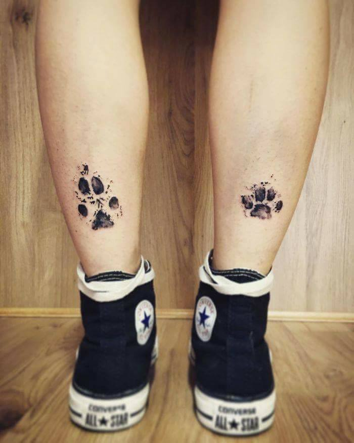 Pet Paw Print Tattoo: Dog Paw Print Tattoos