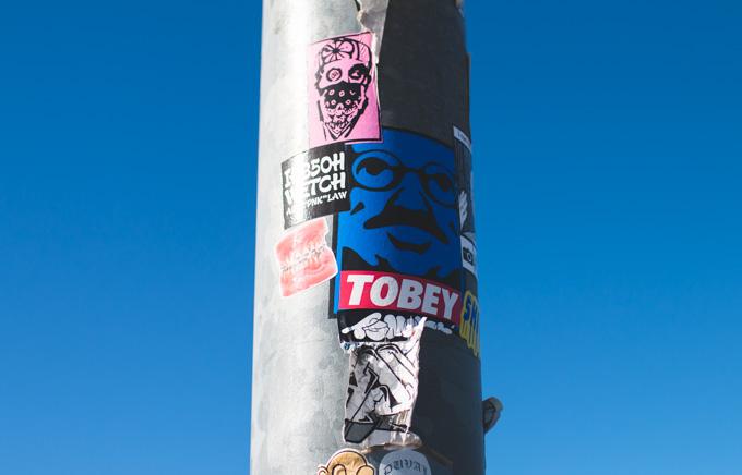 stickers, street art, denture sticker, arrested development