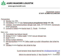 Info Loker Surabaya di Agro Mandiri Logistik Februari 2021