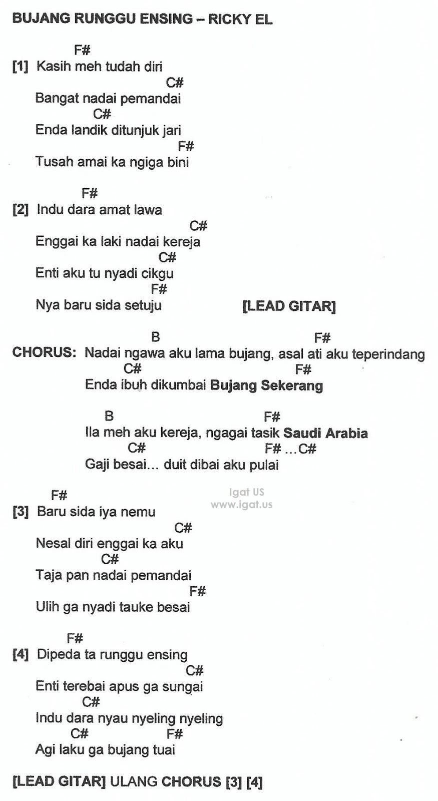 Kod Gitar Lagu Melayu 90an Braderva Doceinfo