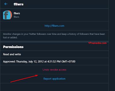 Cara Menghentikan fllwrs.com di Twitter