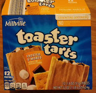 An opened box of Millville Frosted S'mores Toaster Tarts, from Aldi