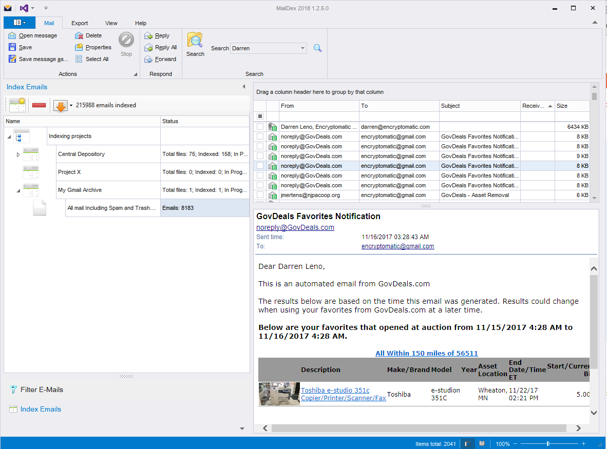 Encryptomatic® News: Saving Private Gmail pt  2: Viewing your Gmail