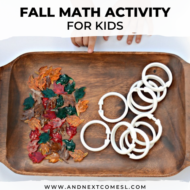 Preschool fall math activity