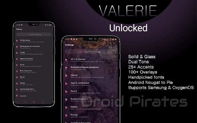 Valerie Substratum Theme apk, Valerie is a beautiful Substratum Theme that supports almost all devices