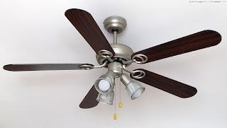 Klarstein Charleston lampadario ventilatore, montato