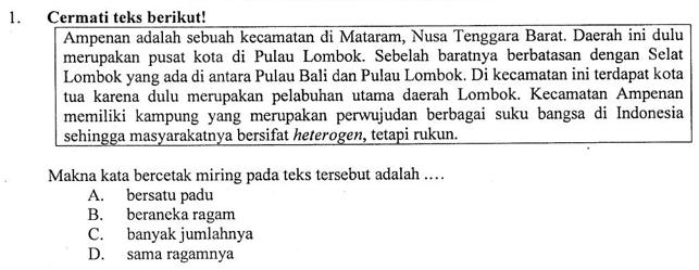 Pembahasan Soal Un Smp Tahun 2019 Mata Pelajaran Bahasa Indonesia Nomor 1 Makna Istilah Pada Teks Zuhri Indonesia