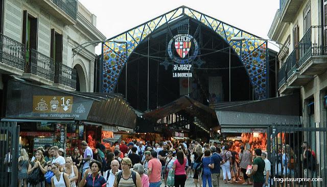 Mercado da Boqueria, nas Ramblas de Barcelona