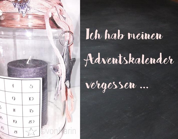 Adventskalender im Glas - mit Kerze
