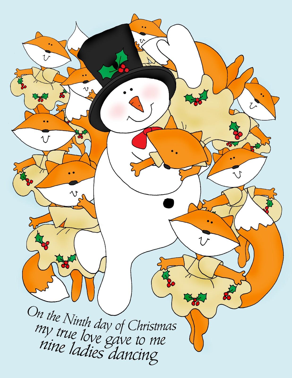 Ninth Day Of Christmas.Free Dearie Dolls Digi Stamps On The Ninth Day Of Christmas