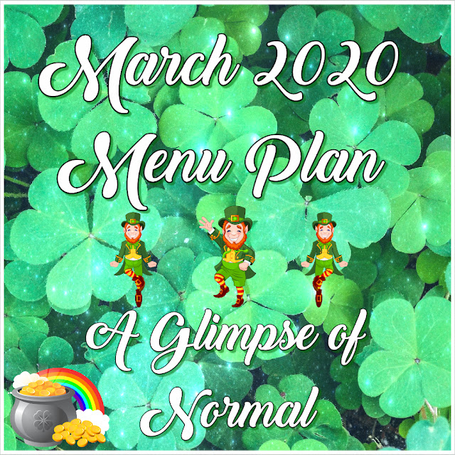 Come and check out what is for dinner in March at A Glimpse of Normal.