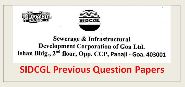 SIDCGL Preevous Question Papers