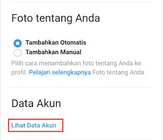 lihat data akun