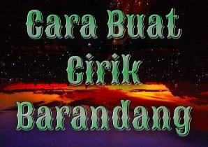 Cirik Barandang Pelet Ampuh Khas Minang Kabau