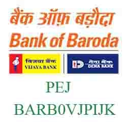 Vijaya Baroda Bank Pij Branch New IFSC, MICR