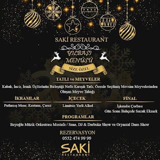 Saki Restaurant Denizli Yılbaşı Programı 2020