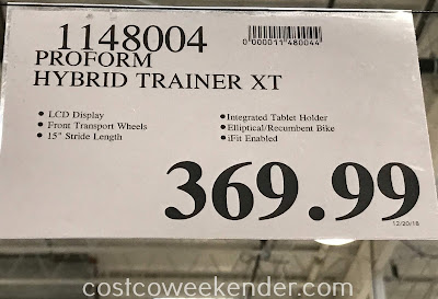 Deal for the ProForm Hybrid Trainer XT Bike + Elliptical at Costco
