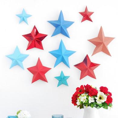 DIY Étoiles Origami 3D en Papier