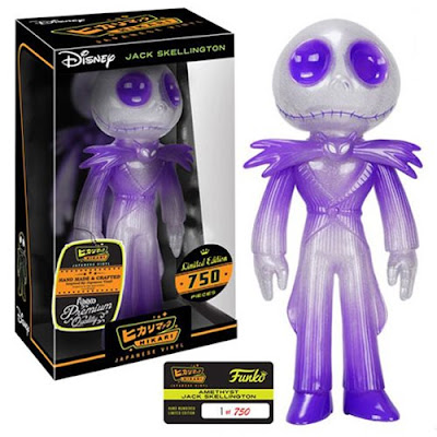 "The Nightmare Before Christmas ""Amethyst"" Jack Skellington Hikari Sofubi Vinyl Figures by Funko x Disney"