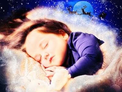 Child Dreaming of Santa Coming