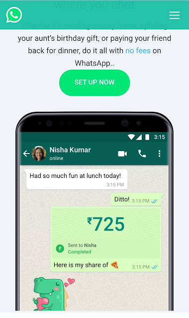 Starting today, people across India will be able to send money through WhatsApp. This secure payments experience makes