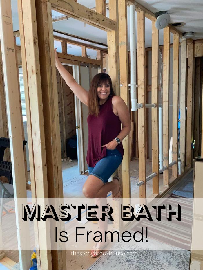 Master Bath Is Framed!