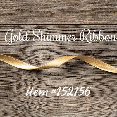 Gold Shimmer Ribbon - Stampin' Up!'s Christmastime is Here Medley - item #152156