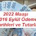 2022 Maaşı 2016 Eylül Ödeme Tarihleri ve Tutarları