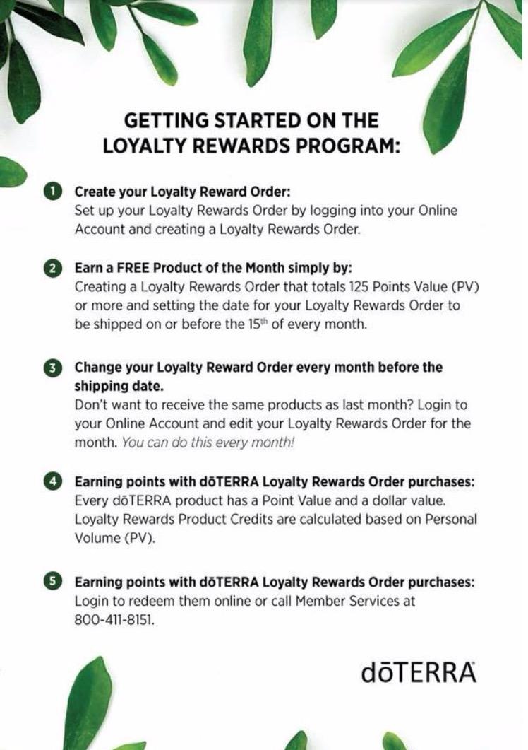 Loyalty Rewards Program >> Explaining The Value Of The Doterra Loyalty Reward Program